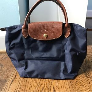 Small Dark Blue Longchamp Tote